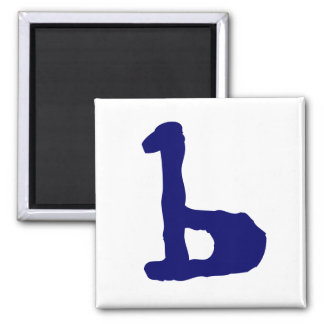 Lowercase b square magnet