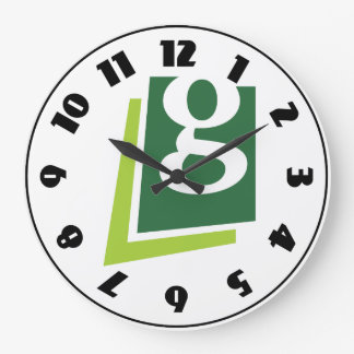 Lowercase G Clock