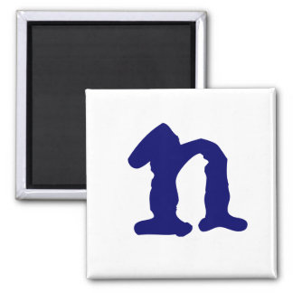 Lowercase n square magnet