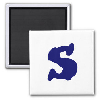 Lowercase s square magnet