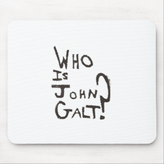 Lowest Cost Ayn Rand, Atlas Shrugged and John Galt Mouse Mat