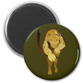 Löwin lioness 6 cm round magnet