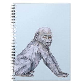Lowland Gorilla Baby Spiral Notebook