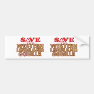 Lowland Gorilla Save Bumper Sticker