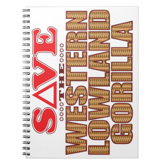 Lowland Gorilla Save Notebook