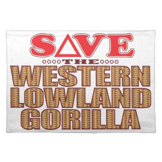 Lowland Gorilla Save Placemat