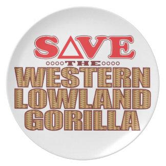 Lowland Gorilla Save Plate