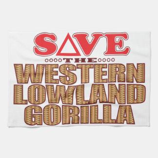 Lowland Gorilla Save Tea Towel