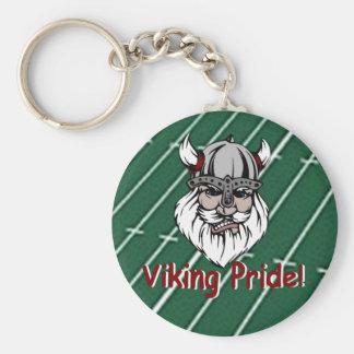 Lowndes Viking Pride Basic Round Button Key Ring
