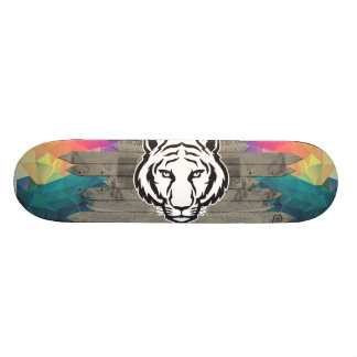 LowPoly Newspaper Lion 21.3 Cm Mini Skateboard Deck