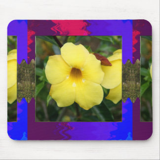 LowPRICE Elegant Gifts ORCHID Flower Yellow Bright Mouse Pads