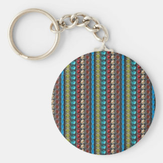 LOWPRICE Quality GIFTS Jewels Patterns Sparkle fun Basic Round Button Key Ring