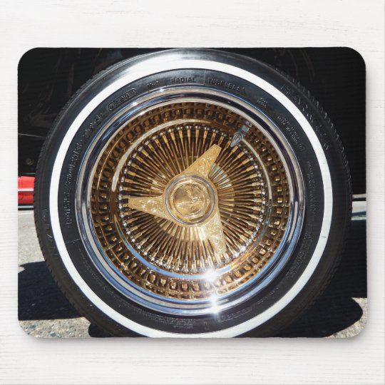 Lowrider Wire Wheels Mouse Pad