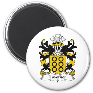Lowther Family Crest 6 Cm Round Magnet