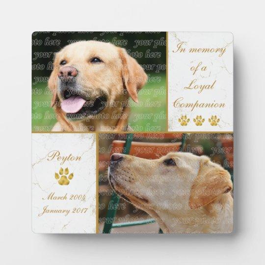 Loyal Companion Dog Photo Pet Keepsake Plaque