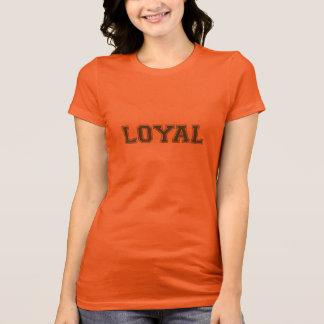 LOYAL in Team Colors Brown and Orange  Tshirts