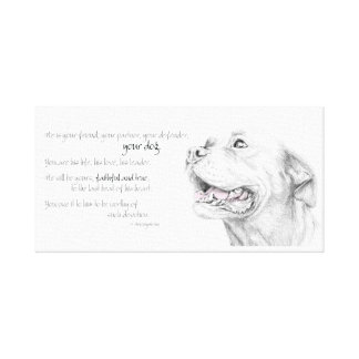 Loyalty, An American Staffordshire Terrier Canvas Print