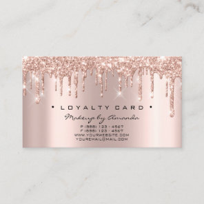 Loyalty Card 6 Punch Makeup Artist Heart Rose Drip