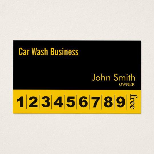 Loyalty Card   Auto Detailing Car Wash