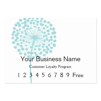 Loyalty Card :: Blue Dandelion Large Business Cards (Pack Of 100)