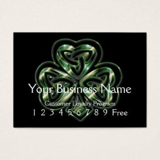 Loyalty Card :: Celtic Shamrock Design 2
