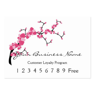 Loyalty Card :: Cherry Blossom Tree Branch Pack Of Chubby Business Cards