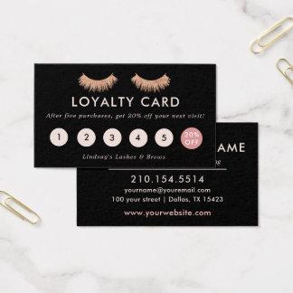 Loyalty Card Eyelashes Makeup Artist Rose Gold