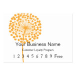 Loyalty Card :: Orange Dandelion Pack Of Chubby Business Cards