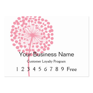 Loyalty Card :: Pink Dandelion Large Business Cards (Pack Of 100)
