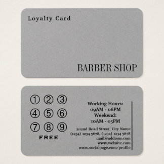 Loyalty card shop salon