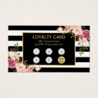 Loyalty Card Vintage Gold Floral Beauty Salon