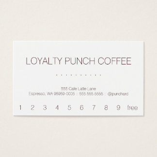 Loyalty Coffee Punch-Card