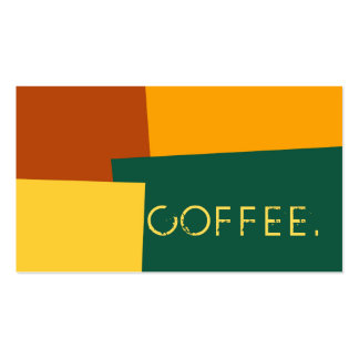 Loyalty Coffee Punch Modern Retro Color #10 Pack Of Standard Business Cards