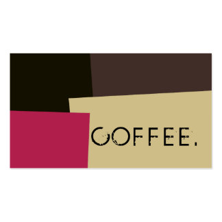 Loyalty Coffee Punch Modern Retro Color #2 Pack Of Standard Business Cards