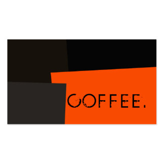 Loyalty Coffee Punch Modern Retro Color #3 Pack Of Standard Business Cards