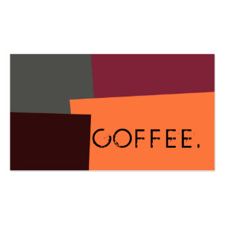 Loyalty Coffee Punch Modern Retro Color #5 Pack Of Standard Business Cards