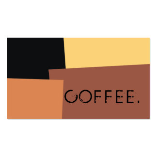 Loyalty Coffee Punch Modern Retro Color #6 Pack Of Standard Business Cards