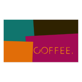 Loyalty Coffee Punch Modern Retro Color #8 Pack Of Standard Business Cards