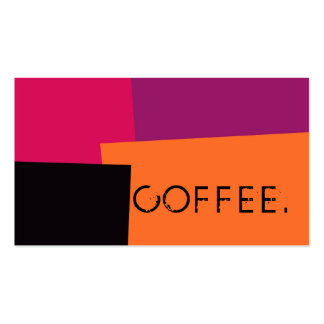 Loyalty Coffee Punch Modern Retro Color #9 Pack Of Standard Business Cards