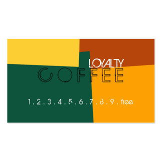 Loyalty Coffee Punch Retro Color Pattern #10 Pack Of Standard Business Cards