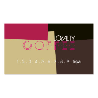 Loyalty Coffee Punch Retro Color Pattern #2 Pack Of Standard Business Cards