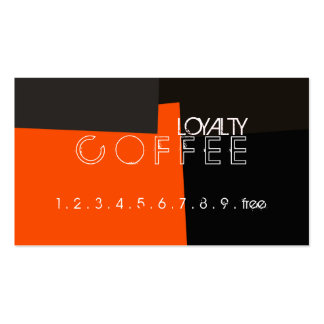 Loyalty Coffee Punch Retro Color Pattern #3 Pack Of Standard Business Cards