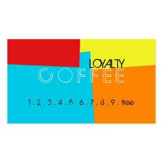 Loyalty Coffee Punch Retro Color Pattern #4 Pack Of Standard Business Cards