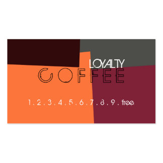 Loyalty Coffee Punch Retro Color Pattern #5 Pack Of Standard Business Cards