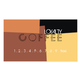 Loyalty Coffee Punch Retro Color Pattern #6 Pack Of Standard Business Cards