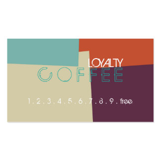 Loyalty Coffee Punch Retro Color Pattern #7 Pack Of Standard Business Cards