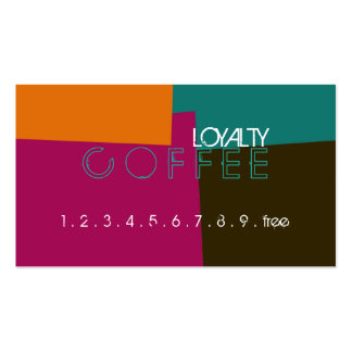Loyalty Coffee Punch Retro Color Pattern #8 Pack Of Standard Business Cards