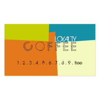 Loyalty Coffee Punch Retro Color Pattern Pack Of Standard Business Cards