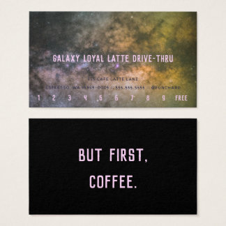Loyalty Latte Drive-Thru Galaxy Milky Way Photo Business Card