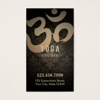 Loyalty Punch | Vintage Damask Yoga Instructor Business Card